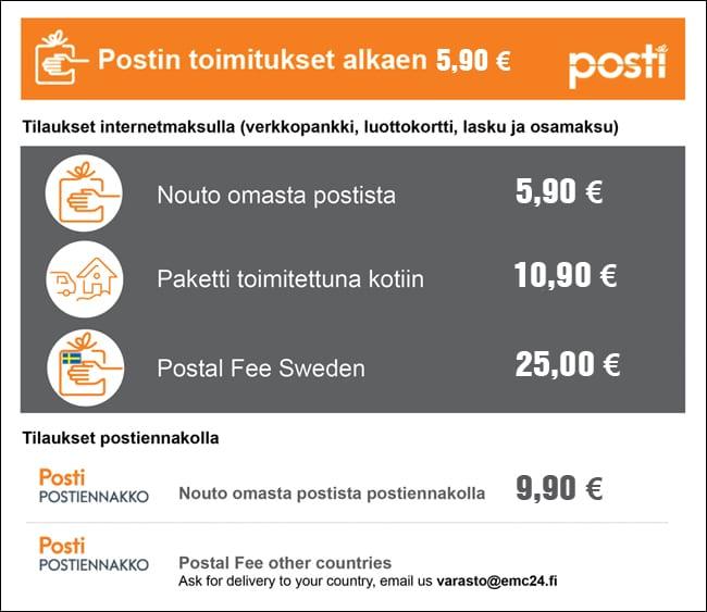 postikulut2017-1 Tilaus- ja toimitusehdot