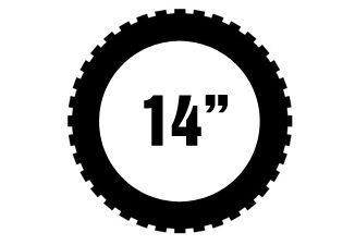 """14"""" Michelin offroad renkaat"""