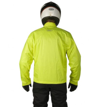 gc bikewear fluo fluor GC2FR moottoripyörä sadetakki taka