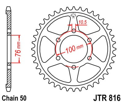 Jt Hindquarter 43 Teeth Jtr816 43 Uncategorized Emc24 Fi