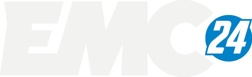 emc logo vaaka 24 pieni ympyrä VALKOACCENT 2