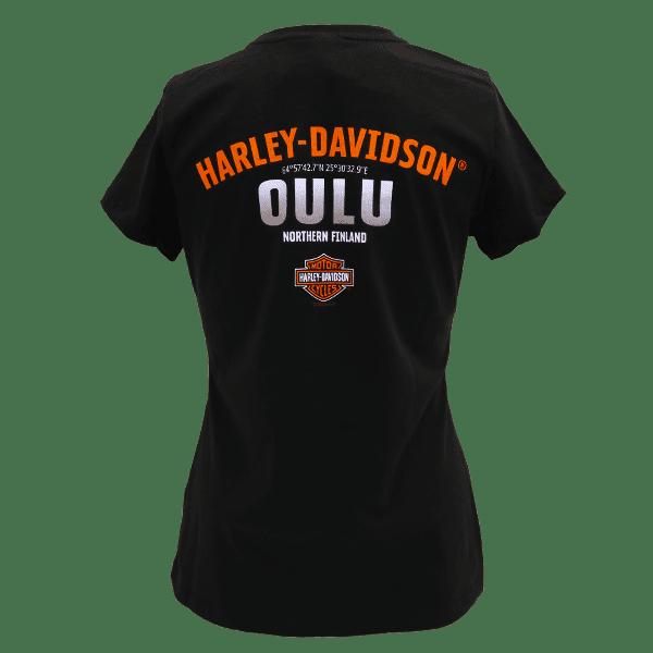 Harley Davidson Paita HD Naisten Dealer t shirt T Paita Oulu pikku logo Taka