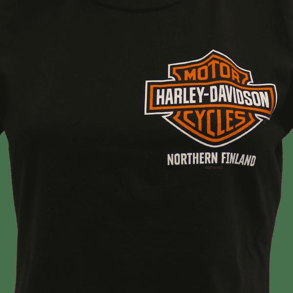 Harley Davidson Paita HD Naisten Dealer t shirt T Paita Oulu pikku logo ZoomEtu