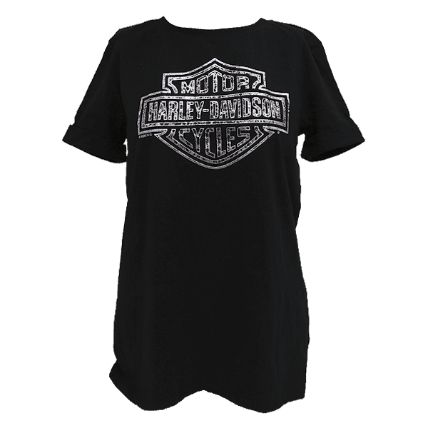 Harley Davidson Paita Inclined Lds Cuffed T BK Etu