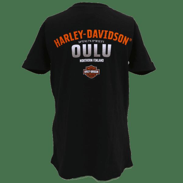 Harley Davidson Paita Inclined Lds Cuffed T BK Taka