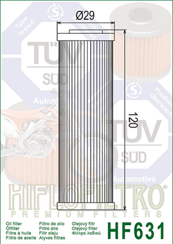 HF631 HiFlo ÖLJYNSUODATIN, Betamotor RR Enduro 4T 2010-14