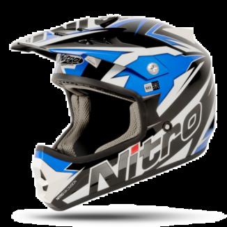 NITRO SHARD Crossikypärä, black/blue/white, koko XXL