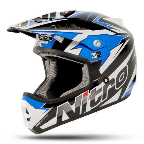 NITRO SHARD Crossikypärä, black/blue/white, koko XXL