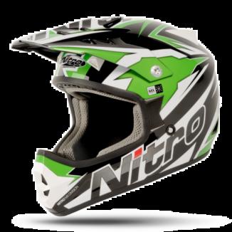 NITRO SHARD Crossikypärä, black/green/white, koko XXL