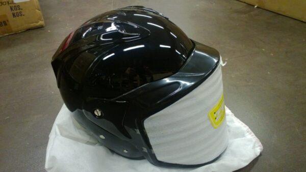 Jet kypärä nostovisiirillä, koko XS, 52 cm, musta