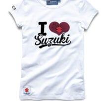 Suzuki kvinnor Jag älskar Suzuki t-shirt