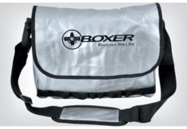 Shoulder Bag Boxer - silver